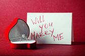 Will you marry me — Stock fotografie