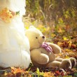 Stock Photo: A light brown teddy bear