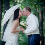 Newlyweds portrait — Stock Photo