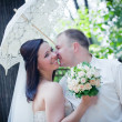 Newlyweds portrait - Stockfoto
