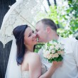 Newlyweds portrait — Stockfoto