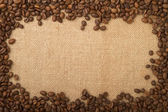 Coffee beans as a frame — Stock Photo