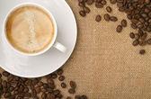 Kaffebönor som en ram — Stockfoto