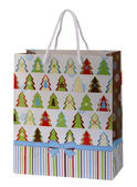 Paper bag for a new year gift — Stock Photo