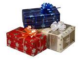 Cajas de regalo en navidad o año nuevo — Foto de Stock