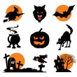 Halloween pictogrammen — Stockvector