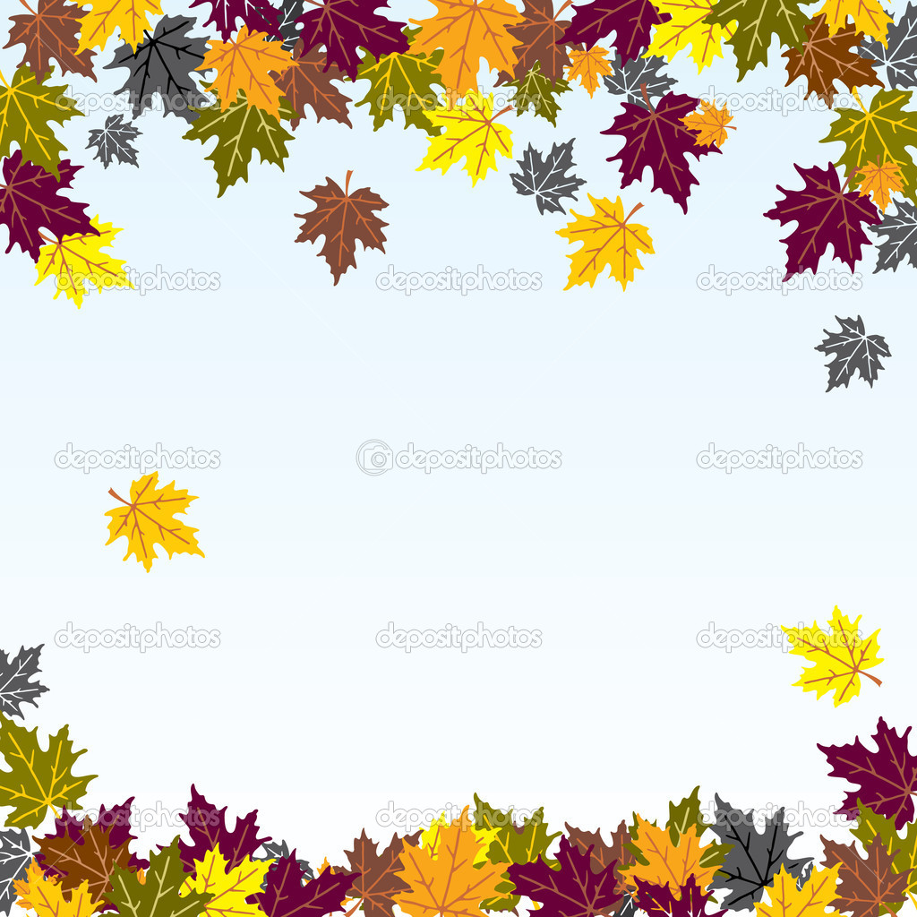 Vector background image of the falling of autumn leaves — Stock Vector #4074159