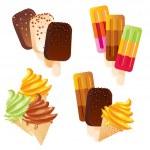 Set ice cream — Stock Vector