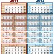 Calendar 2011 and 2012 - Stockvectorbeeld