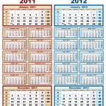 Calendar 2011 and 2012 — Stock Vector