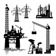 Stock Vector: Industrial buildings