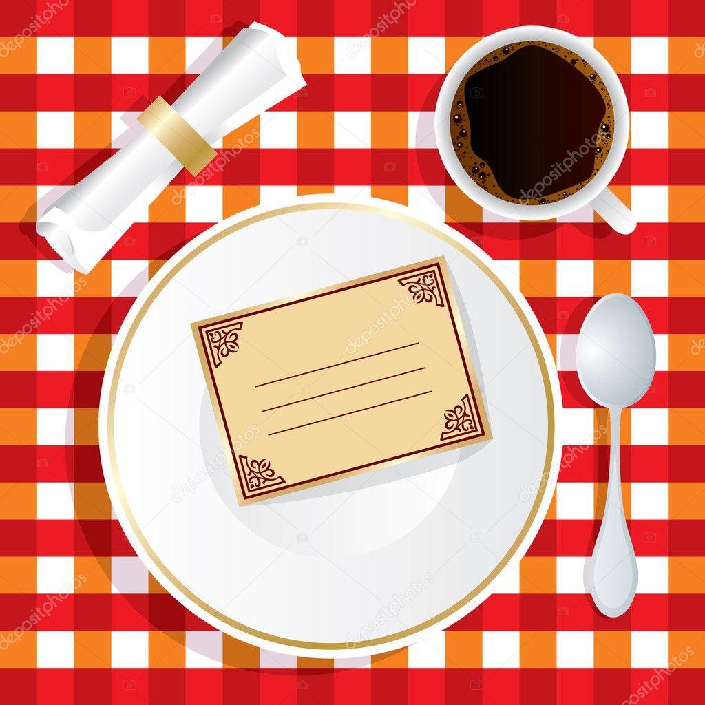 Приглашение на обед открытка