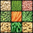 Nuts and vegetables - Stock Photo