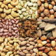 Nuts background — Stockfoto