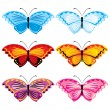 Set butterflies — Stock Vector
