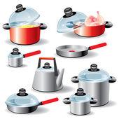 Kitchen ware — Stock Vector