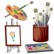 Royalty-Free Stock Vector Image: Object for paint