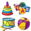 Children's toys — Stock Vector #5255342