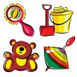 Children&#039;s toys - Vettoriali Stock 