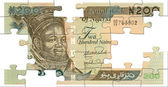 Two hundred naira puzzle — Stock Photo