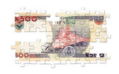 Five hundred naira puzzle — Stock Photo