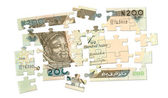 200 naira Cash Puzzle — Stock Photo