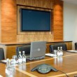 Stock Photo: Conference hall Interior with big screen