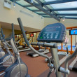 Gym interior with equipment — Stock Photo