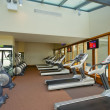Row of jogging simulators in gym — Stock Photo #4503418