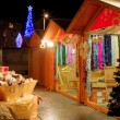Christmas Market at night - Stock Photo