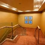 Hotel Corridor interior with stairs — Stock Photo