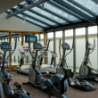 Gym with jogging simulators — Foto Stock