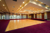 Hall with wooden dance floor — Stock Photo