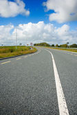 Motorway with road markings — Stock Photo