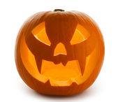 Scary Jack O'Lantern isolated on white — ストック写真