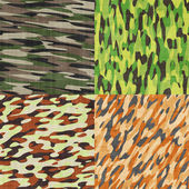 Camouflage pattern pack — Stock Photo