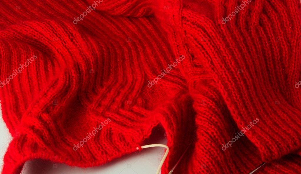 The hands it is possible to knit unique clothes  Stock Photo #4939918