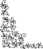 Vignetta floreale cxi — Vettoriale Stock