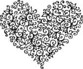 Romantic Heart vignette CC — Stock Vector