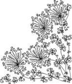 Floral vignette CCXLVII — Stock Vector