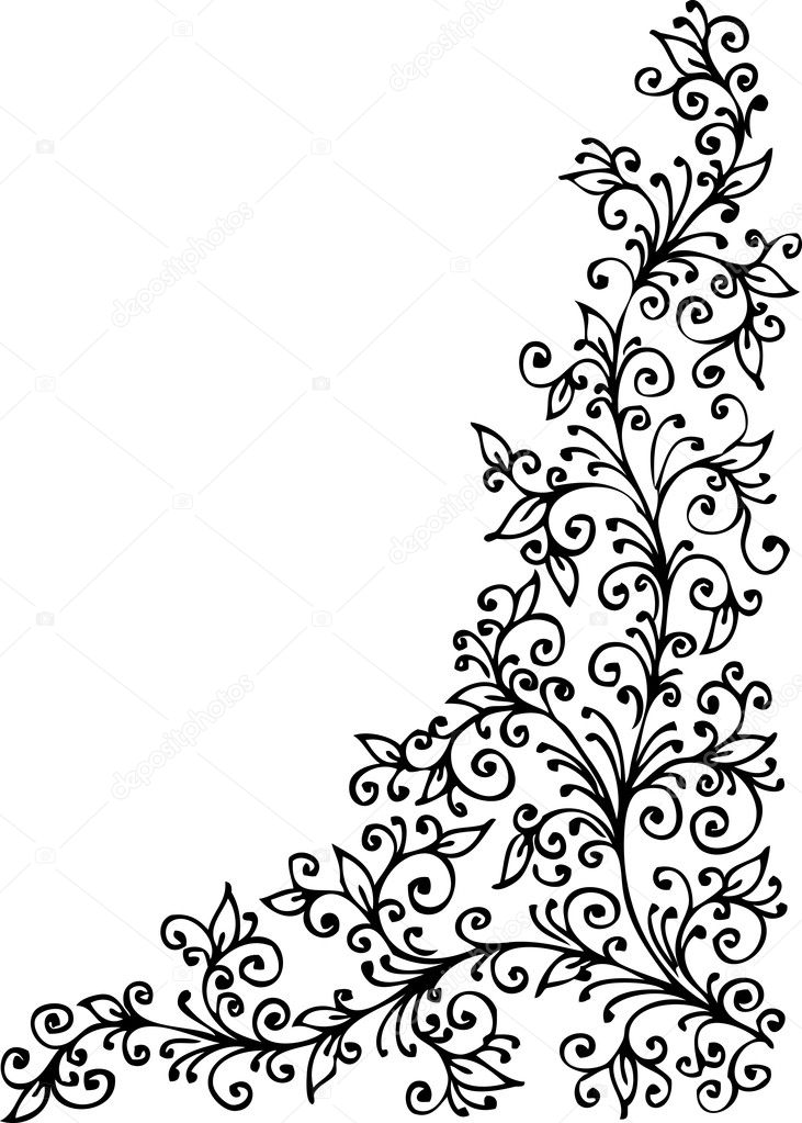 Floral vignette 421 Eau-forte decorative background texture vector illustration EPS-8 — Stock Vector #4241412