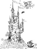 Gothic castle from fairytale I — Stockvektor