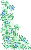 изысканный флорал виньетка в цвет cccxiii — Cтоковый вектор