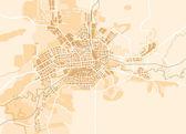 Carte vectorielle de la ville — Vecteur