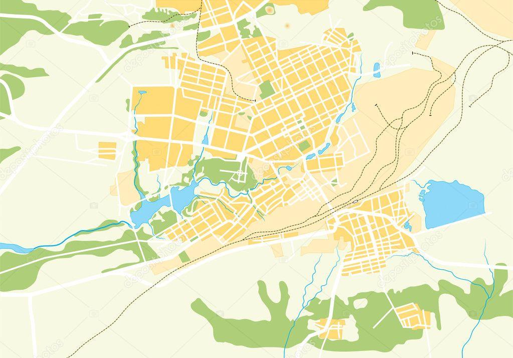 Vector Geo Map of The City   Stock Vector  4635043