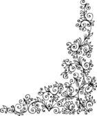 Refined Floral vignette CCCXXXVII — Stock Vector