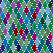 Harlequine Esmerald seamless pattern — Stock Vector