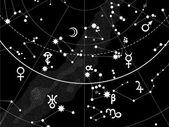 Astronomical Celestial Atlas — Stock Vector