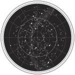 mappa celeste del cielo notturno — Vettoriale Stock