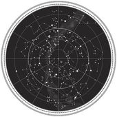 Celestial Map of The Night Sky — Stock Vector